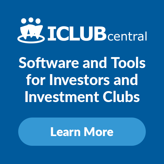 iclub.com |  The leading global provider of tools for investment clubs and their members, offering software, web services, newsletters, and books all to help individual investors to be successful